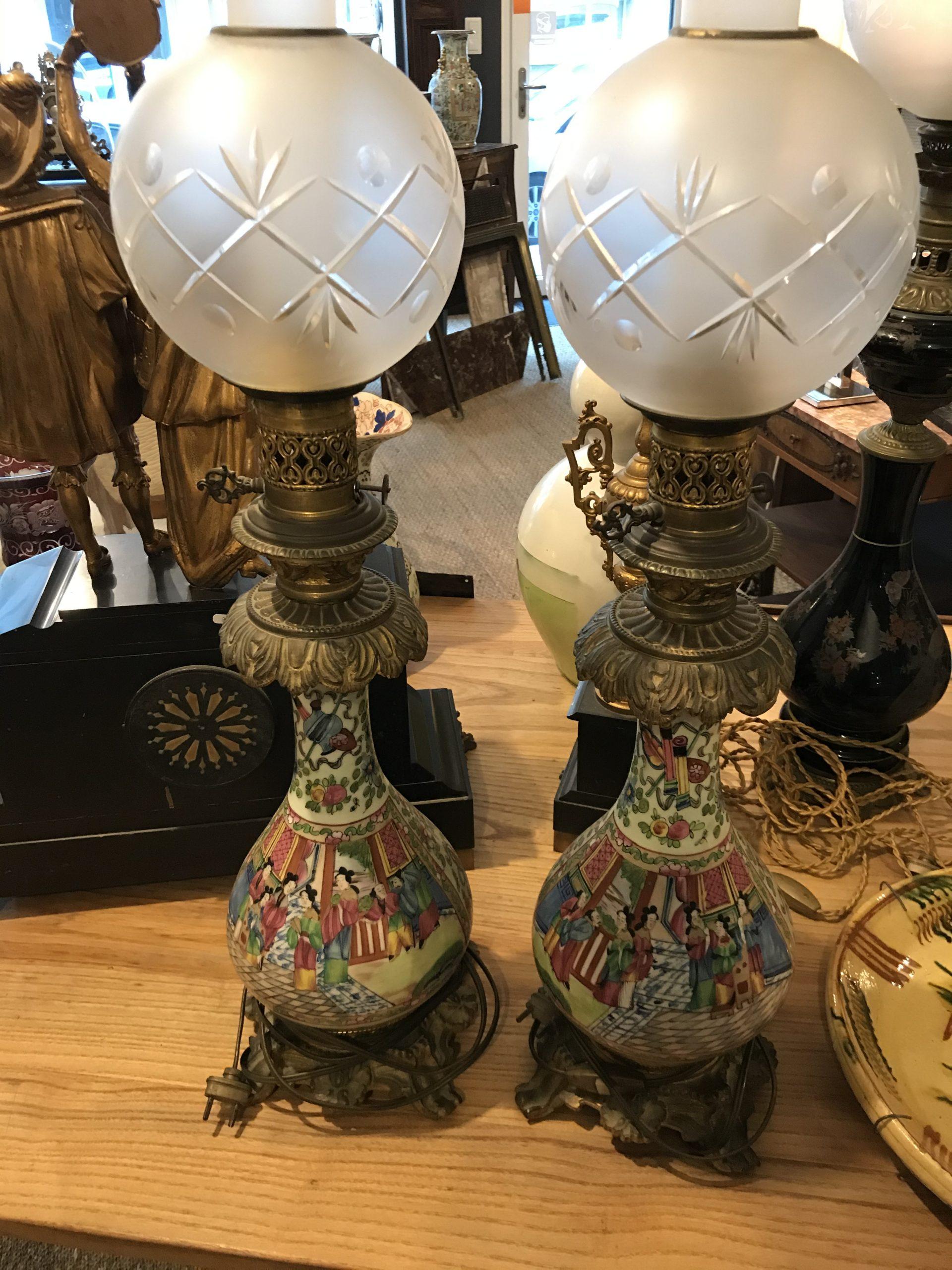 paire de lampes en bayeux